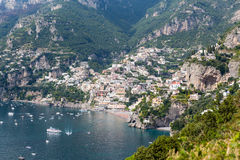 Amalfi Coast in Italy. Scenic view of the Amalfi Coast in Italy. The Amalfi Coast is a stretch of coastline on the southern coast of the Sorrentine Peninsula in royalty free stock photos