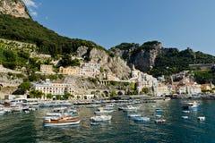 Amalfi-Coast, Italy. View of the City of Amalfi Royalty Free Stock Images