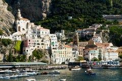 Amalfi-Coast, Italy. View of the City of Amalfi Stock Image