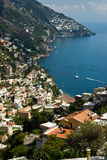 Amalfi-Coast, Italy. View of the city of Praiano Royalty Free Stock Photos