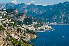Amalfi-Coast, Italy. View of the Amalfi Coast in Conca dei Marini Royalty Free Stock Images