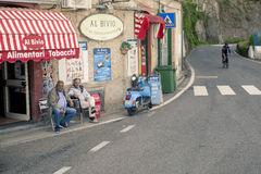 AMALFI COAST LINE SOUTH ITALY - NOVEMBER 5 : unidentified people Stock Photos