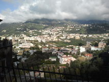 Amalfi coast. Looking down at homes passed from generation to generation Royalty Free Stock Photo