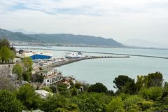 The Amalfi coast stock image