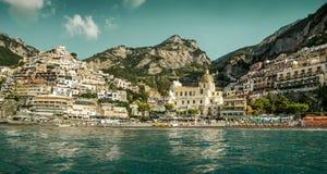 Amalfi Coast - panorama of Positano stock images