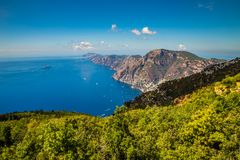 Amalfi Coast And Positano - Campania Region, Italy. Positano And Amazing Scenery Of Amalfi Coast - Salerno Province, Campania Region, Italy, Europe royalty free stock image