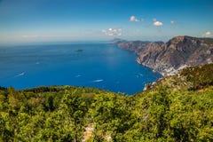 Amalfi Coast And Positano - Campania Region, Italy. Positano And Amazing Scenery Of Amalfi Coast - Salerno Province, Campania Region, Italy, Europe stock photography