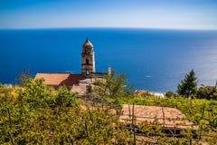 Amalfi Coast - Salerno, Campania, Italy, Europe. Tower Of Church On Amalfi Coast - Salerno Province, Campania Region, Italy, Europe stock images