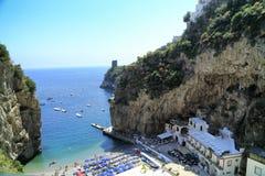 Amalfi Coast. A scenic fiord on the Amalfi Coast near Praiano Stock Photography