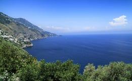 Amalfi Coast. A scenic fiord on the Amalfi Coast near Praiano Royalty Free Stock Image