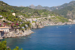 Amalfi Coast scenic view Stock Images