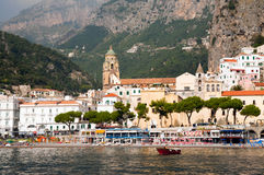 Amalfi Coast from the Sea Royalty Free Stock Image