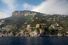 Amalfi Coast from the Sea. In Italy Royalty Free Stock Image