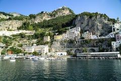 Amalfi. The Amalfi Coast by the sea Stock Photos