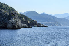 Amalfi Coast. A striking view of the Amalfi coast from sea Royalty Free Stock Images