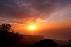 Amalfi Coast Sunset Italy. Gorgeous Sunset in the Amalfi Coast Royalty Free Stock Photo