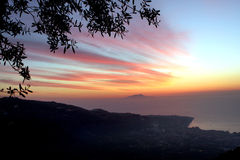 Amalfi Coast Sunset Italy. Gorgeous Sunset in the Amalfi Coast Stock Images