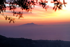 Amalfi Coast Sunset Italy. Gorgeous Sunset in the Amalfi Coast Royalty Free Stock Photos