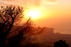 Amalfi Coast Sunset Italy. Gorgeous Sunset in the Amalfi Coast Stock Photos