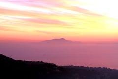 Amalfi Coast Sunset Italy Royalty Free Stock Image