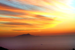 Amalfi Coast Sunset Italy. Gorgeous Sunset in the Amalfi Coast Stock Photography