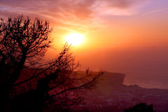 Amalfi Coast Sunset Italy Royalty Free Stock Image