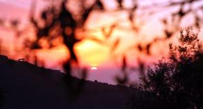 Amalfi Coast Sunset Italy Royalty Free Stock Photography
