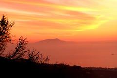 Amalfi Coast Sunset Italy Stock Photo
