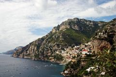Amalfi coast with town Positano. Italian Amalfi coast with town Positano Royalty Free Stock Photo