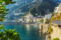 Amalfi coast. Unique architecture. stock photography