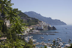 Amalfi Coast through Vegetation Royalty Free Stock Photos