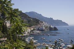 Amalfi Coast through Vegetation Royalty Free Stock Photos