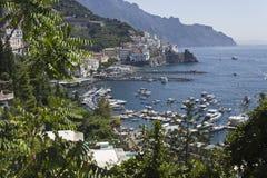 Amalfi Coast through Vegetation Stock Image