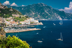 Amalfi Coast. View of Amalfi. Amalfi is a charming, peaceful resort town on the scenic Amalfi Coast of Italy royalty free stock image