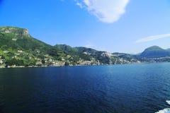 Amalfi Coast. A view from the sea of  the Amalfi coast Stock Photography