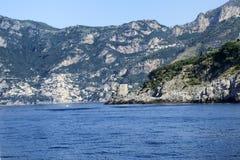 Amalfi Coast. A view from the sea of  the Amalfi coast Stock Photo