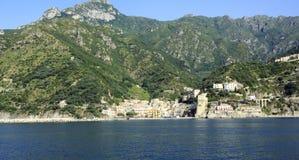 Amalfi Coast. A view from the sea of Cetara on the Amalfi coast Stock Photo