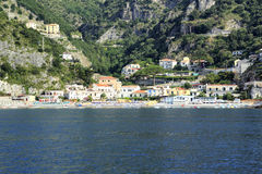 Amalfi Coast. A view from the sea of Erchie on the Amalfi coast Stock Photography