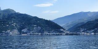 Amalfi Coast. A view from the sea of Maiori on the Amalfi coast Stock Photos