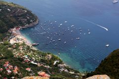 Amalfi Coast. View of the Amalfi Coast from the Sorrento Peninsular Royalty Free Stock Photos