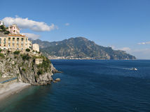 Amalfi Coast view toward Majori Royalty Free Stock Photos