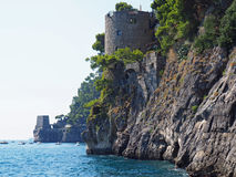 Stone Tower on Sea Cliff, The Amalfi Coast Royalty Free Stock Photography