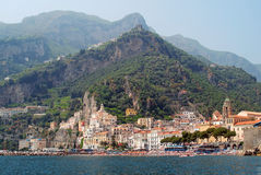 Free Amalfi Coastal Town And Peaks Royalty Free Stock Photography - 34098937