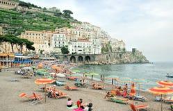 Amalfi Coastline, Italy. Amalfi, Italy,resort beach as tourist and Stock Photos