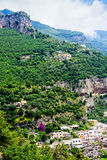 Amalfi Coastline and Mountainside Royalty Free Stock Photo