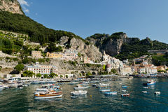 Amalfi-costa, Italia Imágenes de archivo libres de regalías