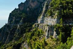 Amalfi-costa, Italia Imagenes de archivo