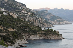 Amalfi Costiera Amalfitana. The city of Amalfi with its typical housing hanging from the hills next to the Atlantic Ocean in Costiera Amalfitana, south of Italy Royalty Free Stock Images