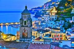 Amalfi dans la province de Salerno, Campanie, Italie image stock