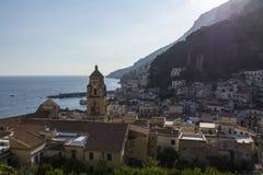 Amalfi an der Abendsonne Lizenzfreie Stockfotografie